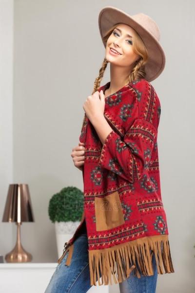 Megztinis su kutais (kreminės spalvos) (raudonos spalvos) Paveikslėlis 1 iš 4 310820033747