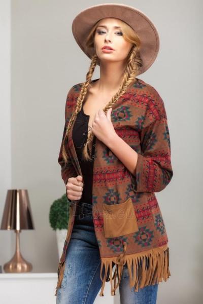 Megztinis su kutais (kreminės spalvos) (rudos spalvos) Paveikslėlis 1 iš 5 310820033749