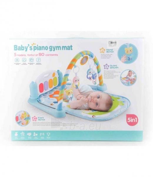 Mėlynas kūdikių muzikinis gimnastikos kilimėlis MR118 Paveikslėlis 1 iš 3 310820227886