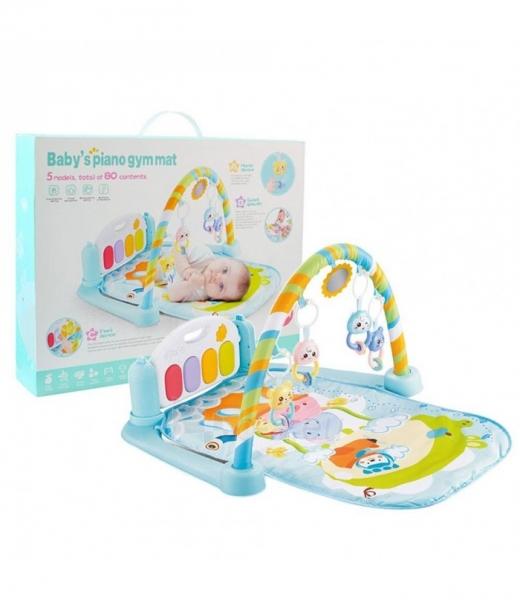 Mėlynas kūdikių muzikinis gimnastikos kilimėlis MR118 Paveikslėlis 2 iš 3 310820227886