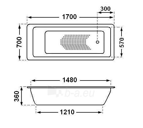 Metalinė vonia 20002 170cm Paveikslėlis 1 iš 4 270716000722