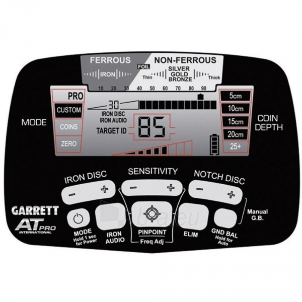 Metāla detektors Garrett AT Pro International Paveikslėlis 4 iš 13 250530800056