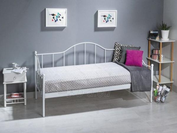 Miegamojo lova Dover 90 balta Paveikslėlis 2 iš 2 310820073546