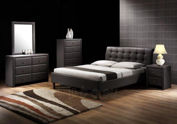 Miegamojo lova Samara juoda Paveikslėlis 1 iš 2 250432000064