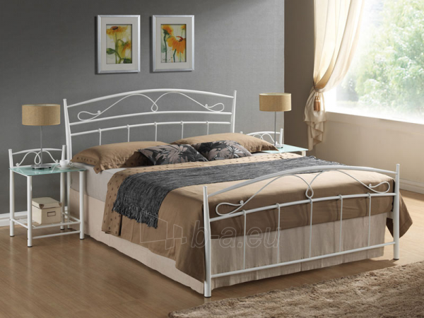 Miegamojo lova Siena 160 balta Paveikslėlis 1 iš 1 250432000054