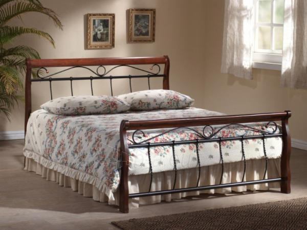 Miegamojo lova Venecja 120 antikinė vyšnia Paveikslėlis 2 iš 2 250432000371
