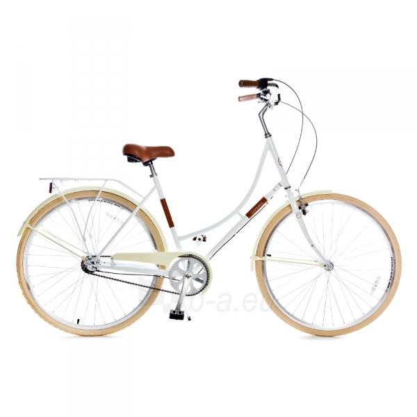 Miesto dviratis Holland 3 speed 700Cx35C, white/brown size 28 Paveikslėlis 1 iš 1 310820076283