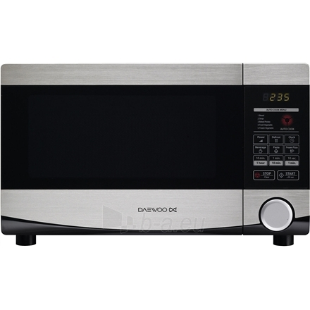 2505694d07b Mikrobangų krosnelė DAEWOO Microwave oven KQG-664BB 20 L, Grill, Touch  control, 700 W, Stainless steel/Black, Microwave oven with Grill, Defrost  function