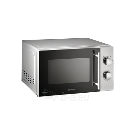 Mikrobangų krosnelė Gorenje Microwave oven MMO20MEII 20 L, Free standing, Mechanical, 800 W, Metalic, Defrost function Paveikslėlis 1 iš 2 310820181934