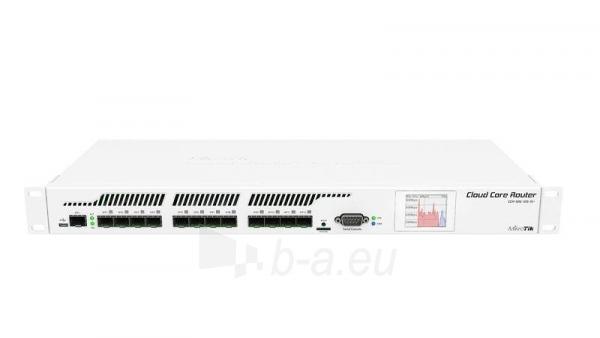 MikroTik CCR1016-12G L6 16xCore 1.2GHz 2GB RAM, 12xSFP, 1xSFP+ Rack 19, LCD Paveikslėlis 1 iš 4 250257100374