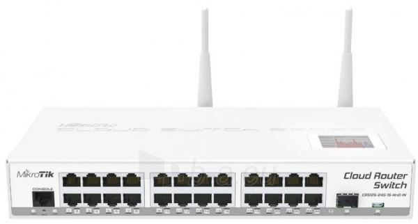 MikroTik CRS125-24G-1S-2Hn L5 24xGig LAN, 1xSFP, 2.4GHz 802.11b/g/n, 1x microUSB Paveikslėlis 1 iš 2 250257100378
