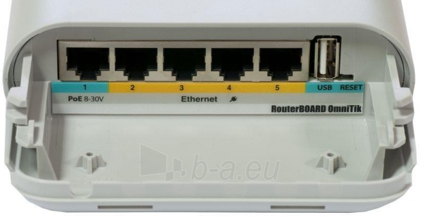 MikroTik OmniTIK UPA-5HnD 5GHz 802.11a/n Outdoor AP dual-polarized Omni 2x2 MIMO Paveikslėlis 2 iš 5 250257100388