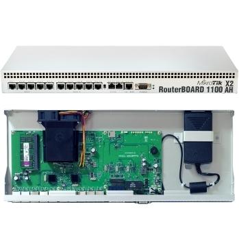 MikroTik RB1100AHx2 L6 DualCore 1GHz 1.5GB RAM, 13xGig LAN, Rack 19 microSD Paveikslėlis 1 iš 1 250257100390