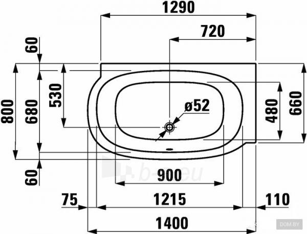 MIMO vonia 140x80 cm, montuojama į dešinį kampą su kairiniu L formos juodu paneliu, su rėmu, balta Paveikslėlis 2 iš 2 310820165688