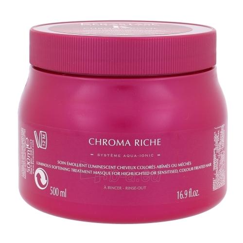 Softening and retro-reflective Hair Care Kerastase Reflection Chroma Riche Masque Cosmetic 500ml Paveikslėlis 1 iš 1 2508316000037