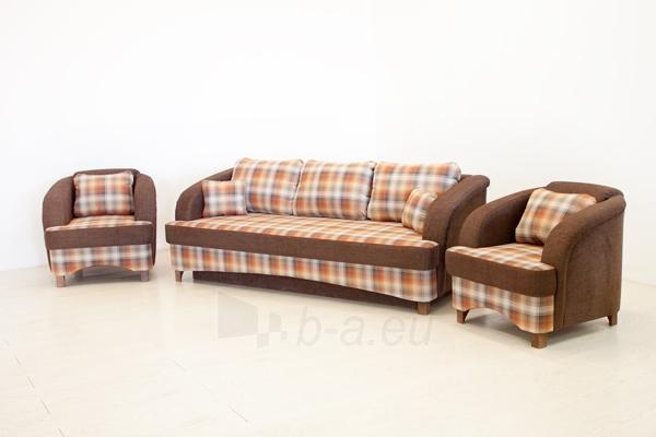 Minkštų baldų komplektas RETRO (sofa-lova ir 2 foteliai) Paveikslėlis 1 iš 6 310820025083