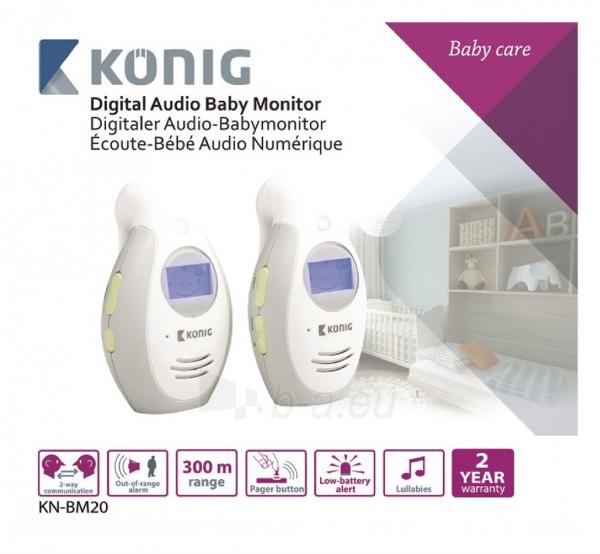 Mobili auklė Koenig digital audio baby monitor LCD 2.4 GHz Paveikslėlis 3 iš 5 310820044793