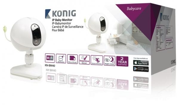 Mobili auklė Koenig IP baby monitor Paveikslėlis 1 iš 4 310820044794