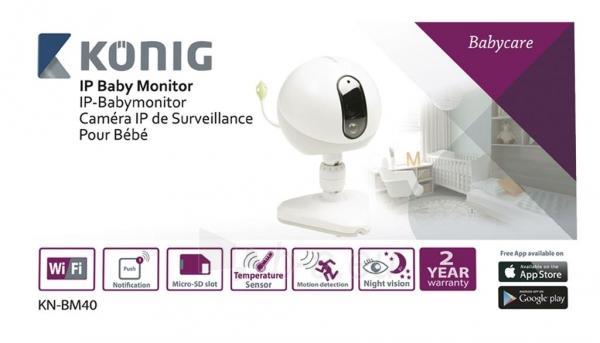 Mobili auklė Koenig IP baby monitor Paveikslėlis 4 iš 4 310820044794