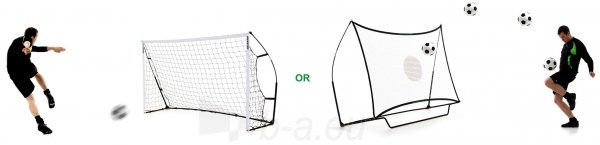 Mobilūs futbolo vartai su atmušimo sienelė QuickPlay Combo 240x150x100cm Paveikslėlis 2 iš 10 310820186203