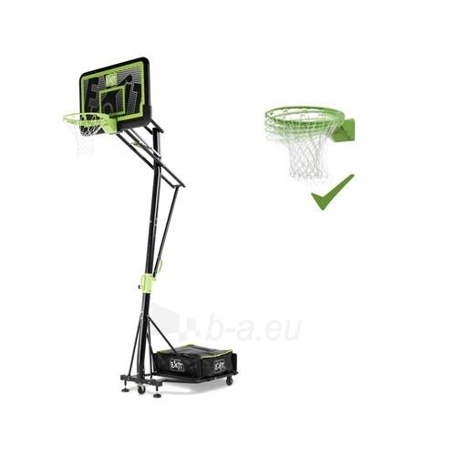 Mobilus krepšinio stovas su spyruokliuojančiu lanku Exit Galaxy Black 112x73cm Paveikslėlis 1 iš 7 310820189485
