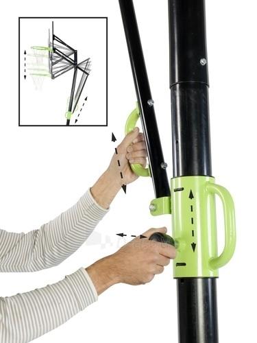 Mobilus krepšinio stovas su spyruokliuojančiu lanku Exit Galaxy Black 112x73cm Paveikslėlis 3 iš 7 310820189485