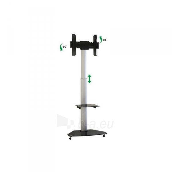 Mobilus stovas Techly skirtas TV LCD/LED/Plasma 37-70 VESA, pivot, regulioj. Paveikslėlis 2 iš 4 310820037572