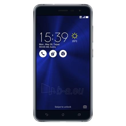 "Mobilus telefonas Asus ZenFone 3 ZE552KL Black, 5.5 "", Super IPS+, 1920x1080 pixels, Qualcomm Snapdragon, 625, Internal RAM 4 GB, 64 GB, microSD, Dual SIM, Nano-SIM, 3G, 4G, Main camera 16 MP, Second camera 8 MP, Android, 6.0, 3000 mAh, Warranty 24  Paveikslėlis 1 iš 5 310820096567"
