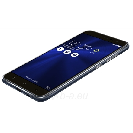 "Mobilus telefonas Asus ZenFone 3 ZE552KL Black, 5.5 "", Super IPS+, 1920x1080 pixels, Qualcomm Snapdragon, 625, Internal RAM 4 GB, 64 GB, microSD, Dual SIM, Nano-SIM, 3G, 4G, Main camera 16 MP, Second camera 8 MP, Android, 6.0, 3000 mAh, Warranty 24  Paveikslėlis 2 iš 5 310820096567"