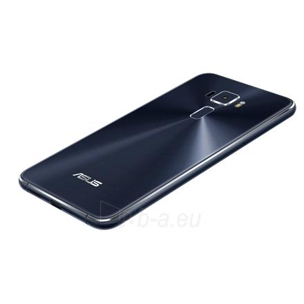 "Mobilus telefonas Asus ZenFone 3 ZE552KL Black, 5.5 "", Super IPS+, 1920x1080 pixels, Qualcomm Snapdragon, 625, Internal RAM 4 GB, 64 GB, microSD, Dual SIM, Nano-SIM, 3G, 4G, Main camera 16 MP, Second camera 8 MP, Android, 6.0, 3000 mAh, Warranty 24  Paveikslėlis 5 iš 5 310820096567"