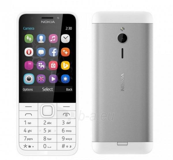 Mobilus telefonas Nokia 230 Dual Sim silver ENG Paveikslėlis 2 iš 5 310820160614