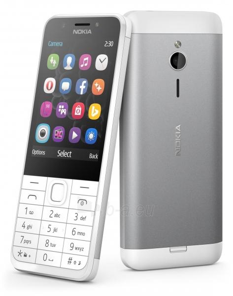 Mobilus telefonas Nokia 230 Dual Sim silver ENG Paveikslėlis 4 iš 5 310820160614