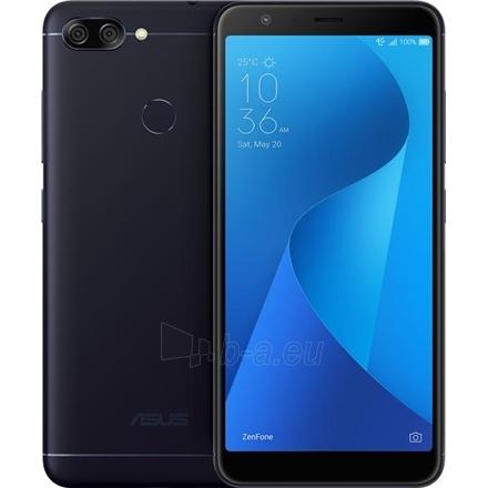 "Mobilusis telefonas Asus ZenFone MAX Plus ZB570TL Deepsea Black, 5.7 "", FHD+, 2160 x 1080 pixels, Mediatek, MT6750V, Internal RAM 3 GB, 32 GB, micro SD card supports up to 256GB, Dual SIM, Nano-SIM, 4G, Main camera 16+8 MP, Secondary camera 8 MP, An Paveikslėlis 1 iš 3 310820131092"