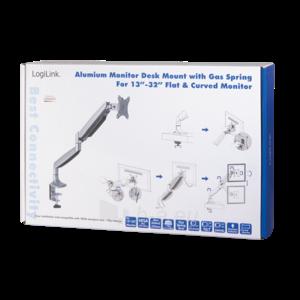 Monitoriaus laikiklis LOGILINK - Alumium monitor desk mount,13-27, max. 9 kg Paveikslėlis 5 iš 6 310820144807