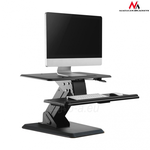 Monitoriaus laikiklis Maclean MC-792 Stand for keyboard and monitor / laptop on a black table gas spr Paveikslėlis 1 iš 8 310820144350