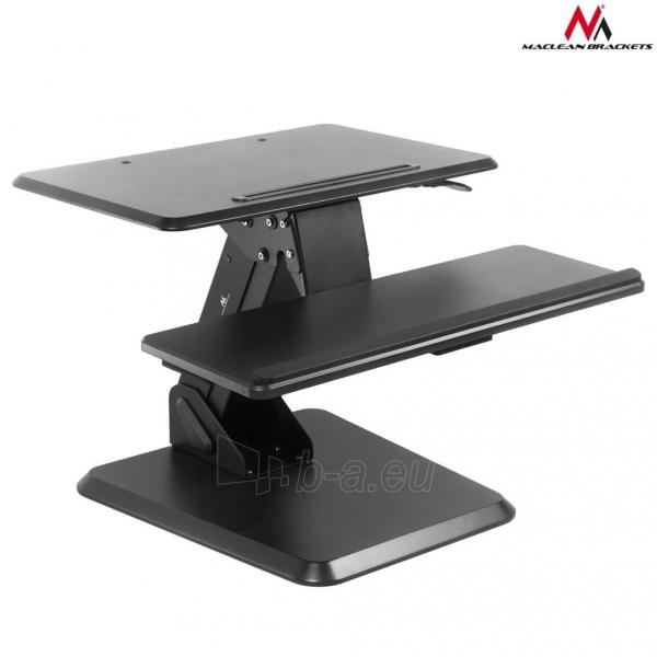 Monitoriaus laikiklis Maclean MC-792 Stand for keyboard and monitor / laptop on a black table gas spr Paveikslėlis 3 iš 8 310820144350