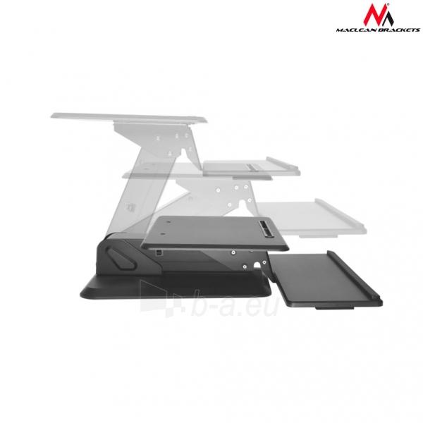 Monitoriaus laikiklis Maclean MC-792 Stand for keyboard and monitor / laptop on a black table gas spr Paveikslėlis 5 iš 8 310820144350