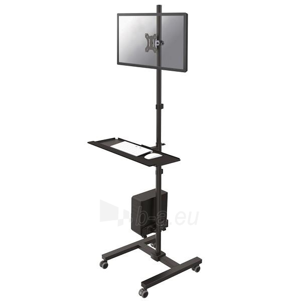 Mobile Per Pc.Monitoriaus Stovas Newstar Mobile Workplace Floor Stand Monitor Keyboard Mouse Pc