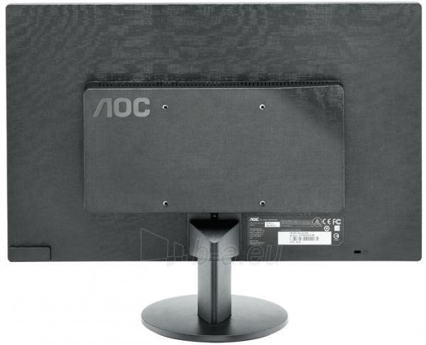 AOC E970SWN 18.5'' LED/16:9/1366×768/200cdm2/5ms/H-90,V-65/20M:1/VGA/Tilt,Vesa/Black Paveikslėlis 3 iš 3 250251201299