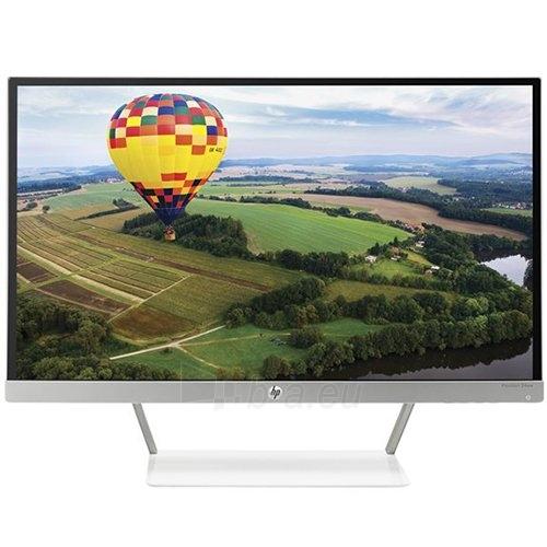 HP Pavilion 24xw - LED monitor - 23.8 ( 23.8 viewable ) - 1920 x 1080 - IPS - 250 cd/m2 - 1000:1 - 8 ms - 2xHDMI, VGA - white, natural silver Paveikslėlis 1 iš 3 310820018433