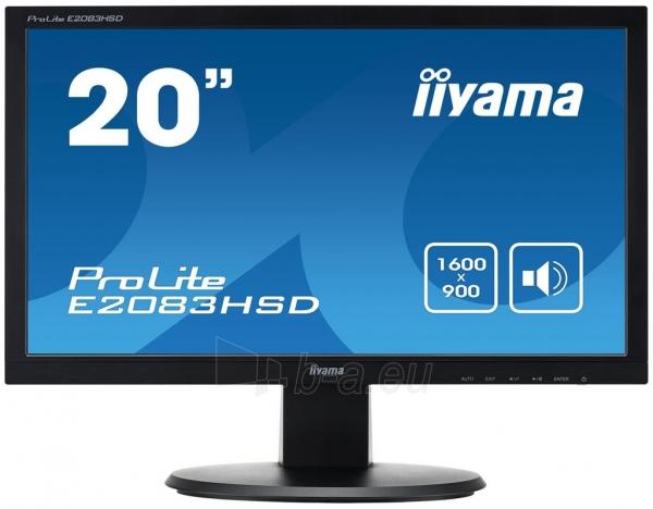 Monitorius Iiyama E2083HSD 19.5 LED, DVI, Garsiakalbiai Paveikslėlis 1 iš 3 250251202112