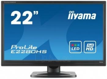 Monitorius Iiyama E2280HS 21.5 LED FHD, HDMI, DVI, Garsiakalbiai, 5ms Paveikslėlis 1 iš 3 250251202115