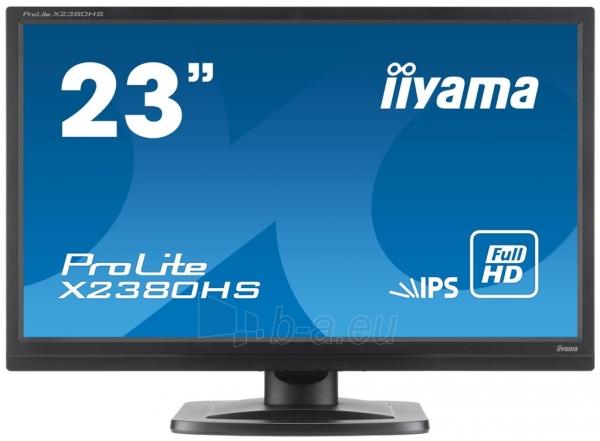 Monitorius Iiyama Prolite X2380HS-B1 23 IPS FHD, DVI, HDMI, Garsiakalbiai Paveikslėlis 1 iš 3 250251202119
