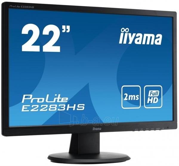 LCD 21,5 Prolite E2283HS, LED, Full HD, 2ms, VGA, DVI-D, HDMI, speakers Paveikslėlis 1 iš 3 250251202317