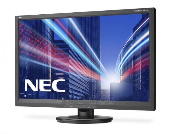 Monitorius NEC AccuSync LCD AS242W 24, Full HD, DVI, VGA, Juodas Paveikslėlis 2 iš 2 250251202436