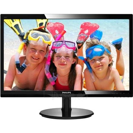 Monitorius PHILIPS 246V5LSB 24'' LED/16:9/1920x1080/250cdm2/5ms/H-170,V-160/10M:1/VGA,DVI-D/Tilt,Vesa/Glossy Black Paveikslėlis 2 iš 4 250251201753