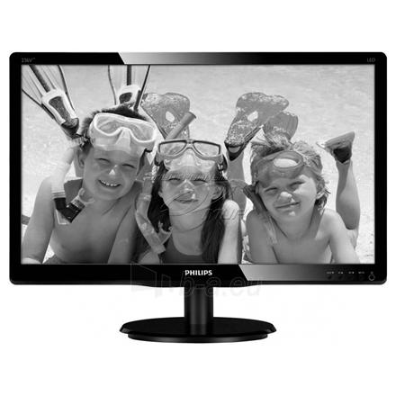 Monitorius PHILIPS 246V5LSB 24'' LED/16:9/1920x1080/250cdm2/5ms/H-170,V-160/10M:1/VGA,DVI-D/Tilt,Vesa/Glossy Black Paveikslėlis 1 iš 4 250251201753