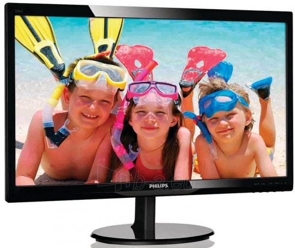 Monitorius Philips 246V5LSB 24 LED FHD, DVI, Juodas Paveikslėlis 1 iš 2 250251202172