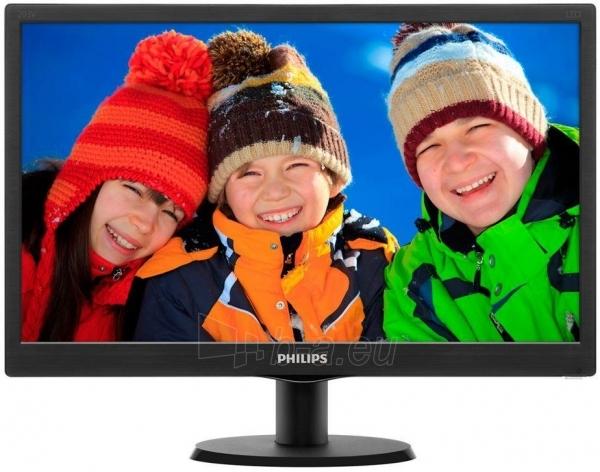 Monitorius Philips V-line 203V5LSB26/10 19.5 LED, 5ms, Juodas Paveikslėlis 2 iš 2 250251202199