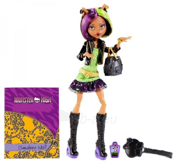 Monster High New Scaremester Clawdeen Wolf Fashion Doll Paveikslėlis 2 iš 3 250710901023